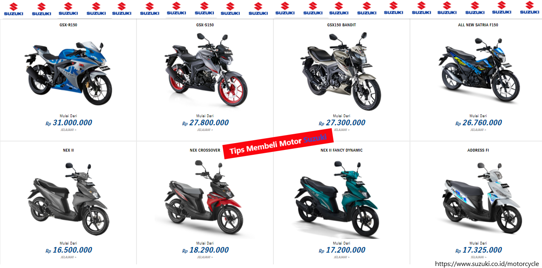 Tips Membeli Motor Suzuki Baru Berikut Wajib Anda Terapkan