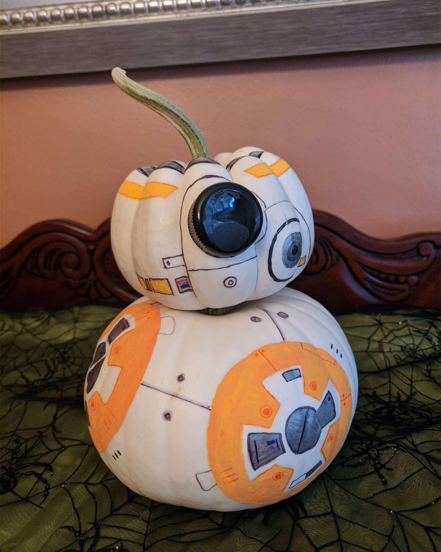 BB-8 Pumpkin : ハロウィンのカボチャの愛らしい BB-8🎃
