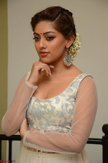 Anu Emmanuel in a Transparent White Choli Cream Ghagra Stunning Pics 100.JPG