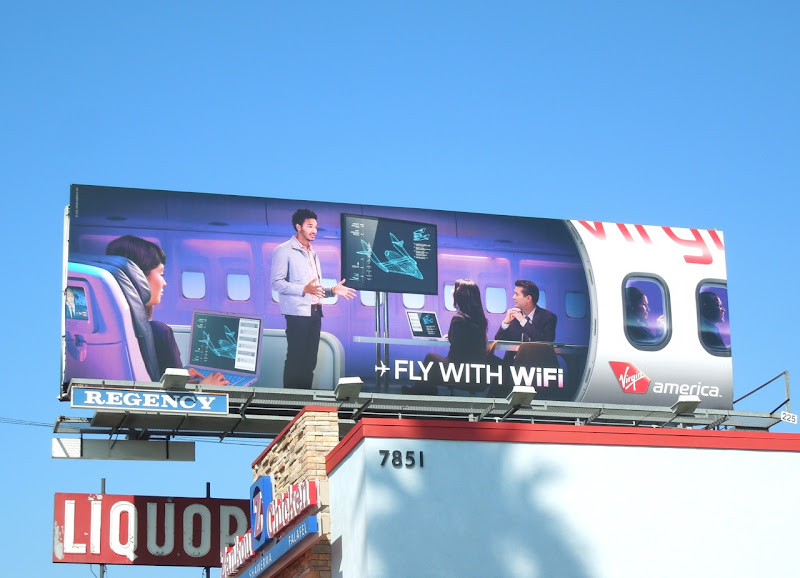 Fly WIFI Virgin America billboard