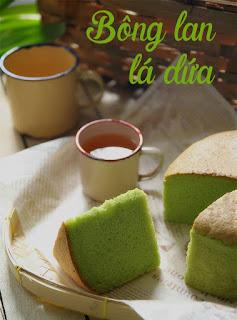 Cách làm bánh bông lan lá dứa thơm nức mũi