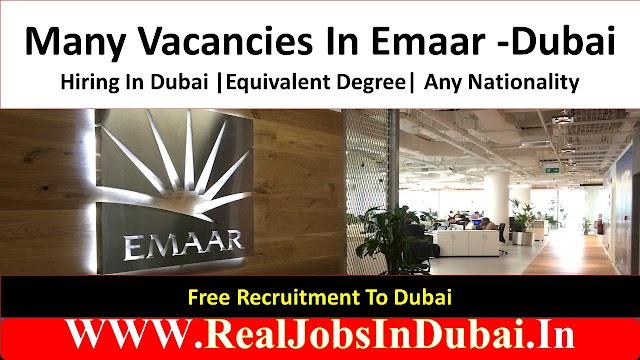 Emaar Hiring Staff In Dubai - UAE 2021