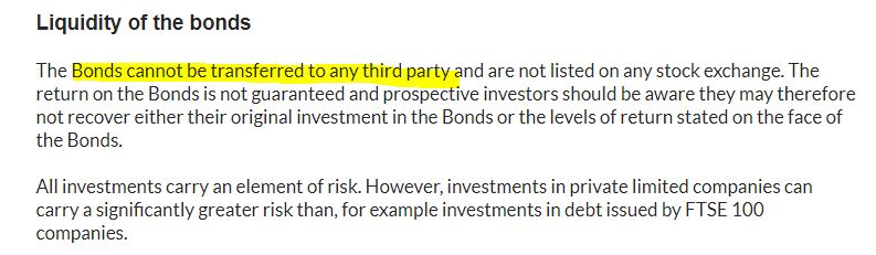Is a Blackmore Bond ISA allowed? Risk statement
