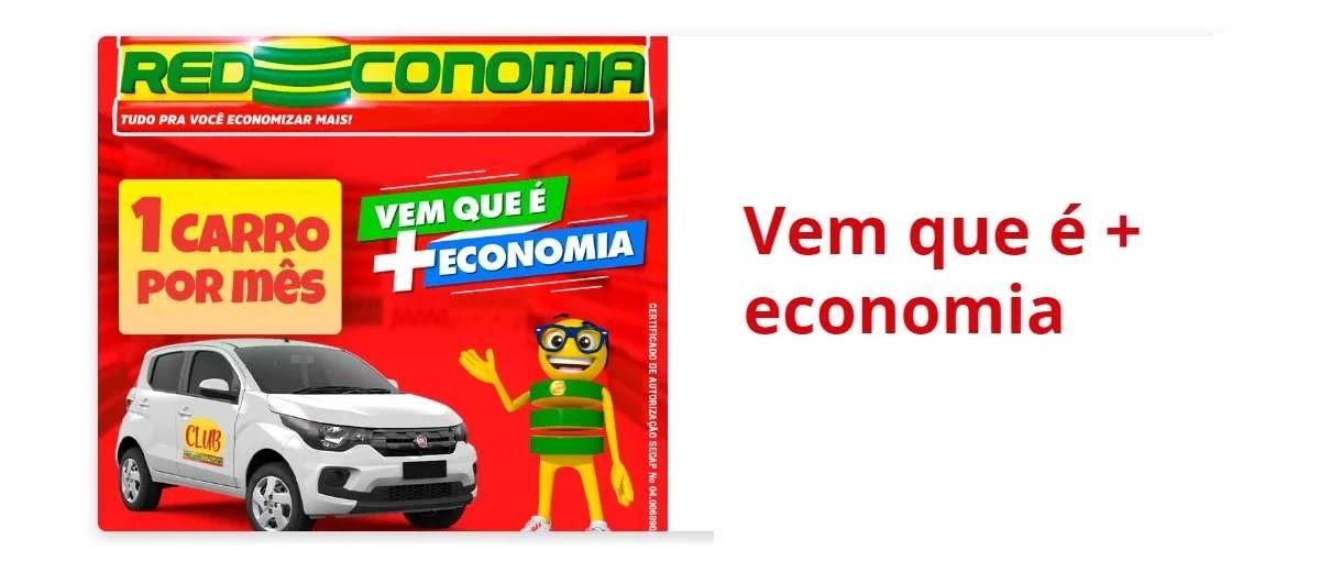 Promoção Redeconomia 2020 Carro Zero Todo Mês Supermercados - Vem Que é + Economia