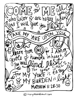 the cross the yoke and rest  matthew 112830 printable