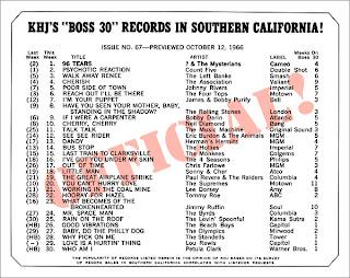 KHJ Boss 30 No. 67 - October 12, 1966