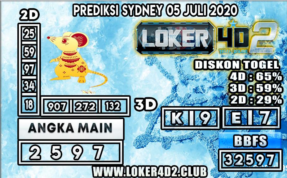 PREDIKSI TOGEL SYDNEY LOKER4D2 05 JULI 2020