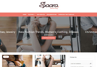 Saara Fashion Blog Blogger Template