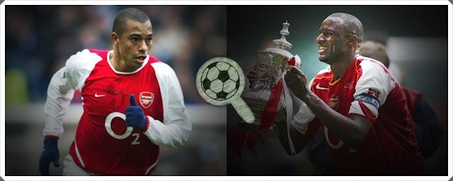 Gilberto Silva Patrick Vieira Arsenal Gunners