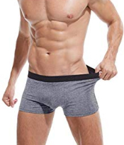 Robesbon Mens Boxer Briefs 4-5 Pack Stretch Comfortable Breathable No Ride up Cotton Underwear