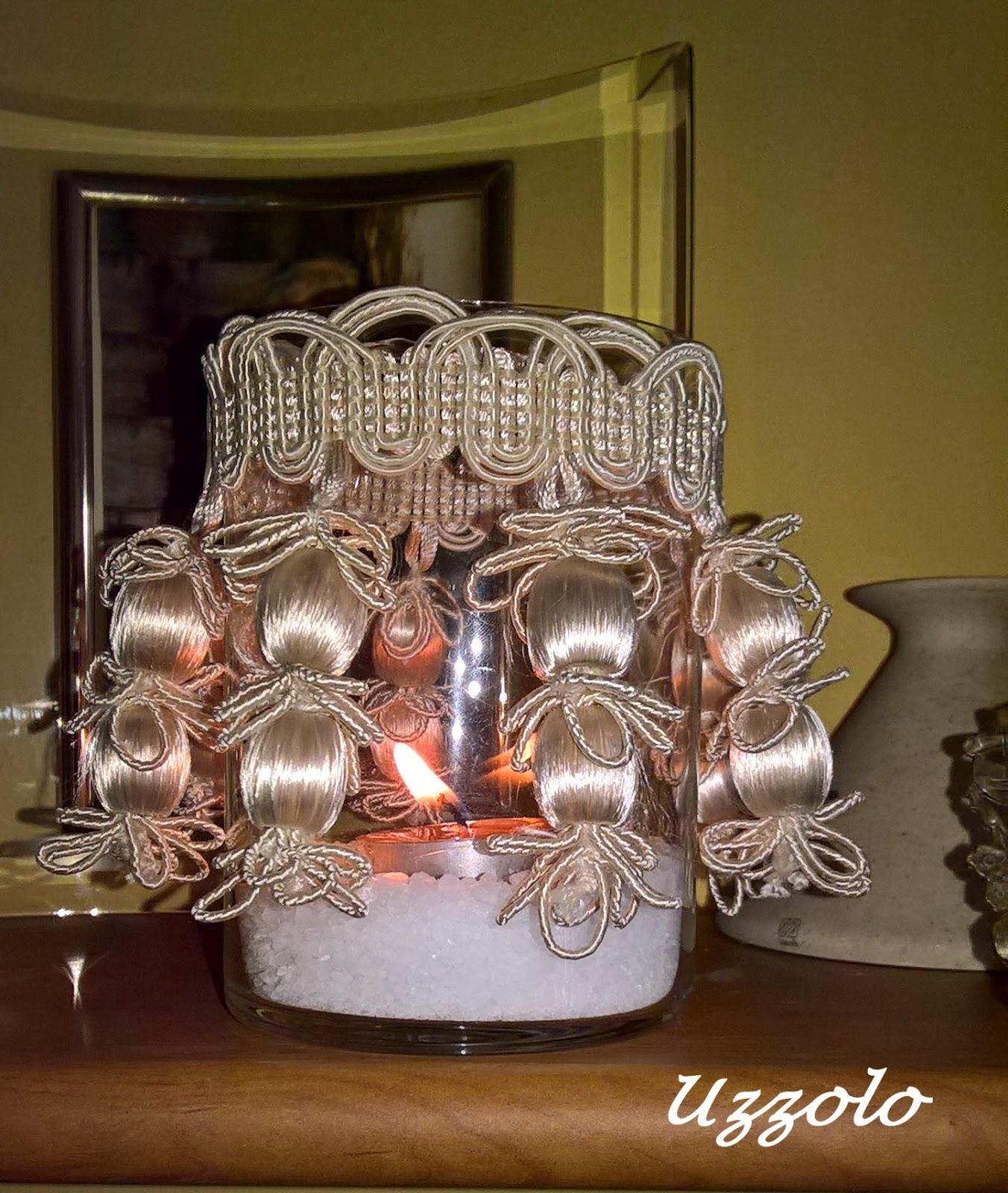 Uzzolo porta candela con il riciclo creativo for Porta candela