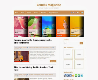 Cenutis Magazine Blogger Template