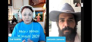 Zoé Valdés entrevista a cubano en huelga de hambre frente a embajada de Cuba en Washington