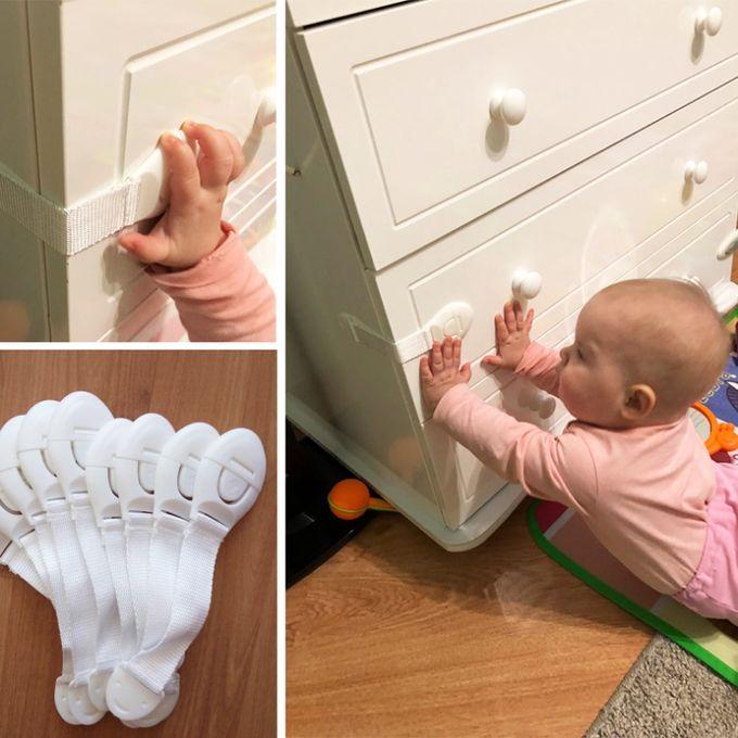 Plastique Enfant Verrou Protection des enfants bébé sécurité enfant sécurité serrures 2 PC