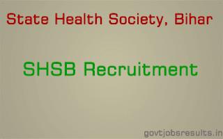 shs bihar vacancy 2016 state health society bihar jobs