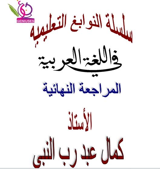 المراجعة النهائية فى اللغة العربية للثانوية العامة 2019  110000