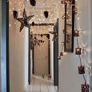 pasillo decorado navidad