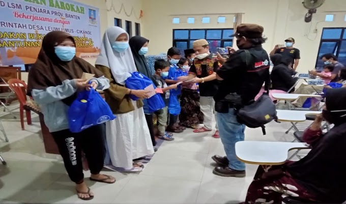 LSM Penjara DPD Banten bersama Pemdes Leuwilimus Gelar Baksos Santuni Anak Yatim-piatu