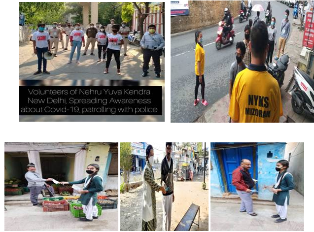 Volunteers-of-Nehru-yuva-kendra-about-awareness-of-COVID-19-patroling