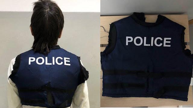 """28χρονος έκρυβε ναρκωτικά στο εσωτερικό γιλέκου που φορούσε με την ένδειξη """" POLICE """""""