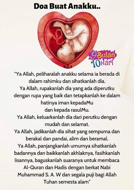Doa Ibu Mengandung Untuk Anak Dalam Kandungan