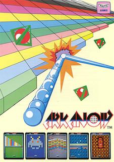 Cartel publicitario de Arkanoid, Arcade, 1986 (Taito)