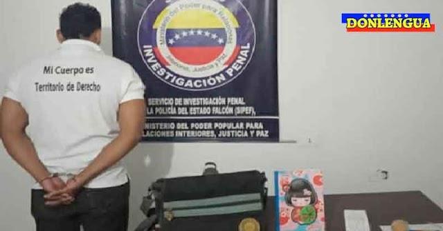Militante chavista detenido por hacerle cochinadas a una niña de 12 años en Falcón