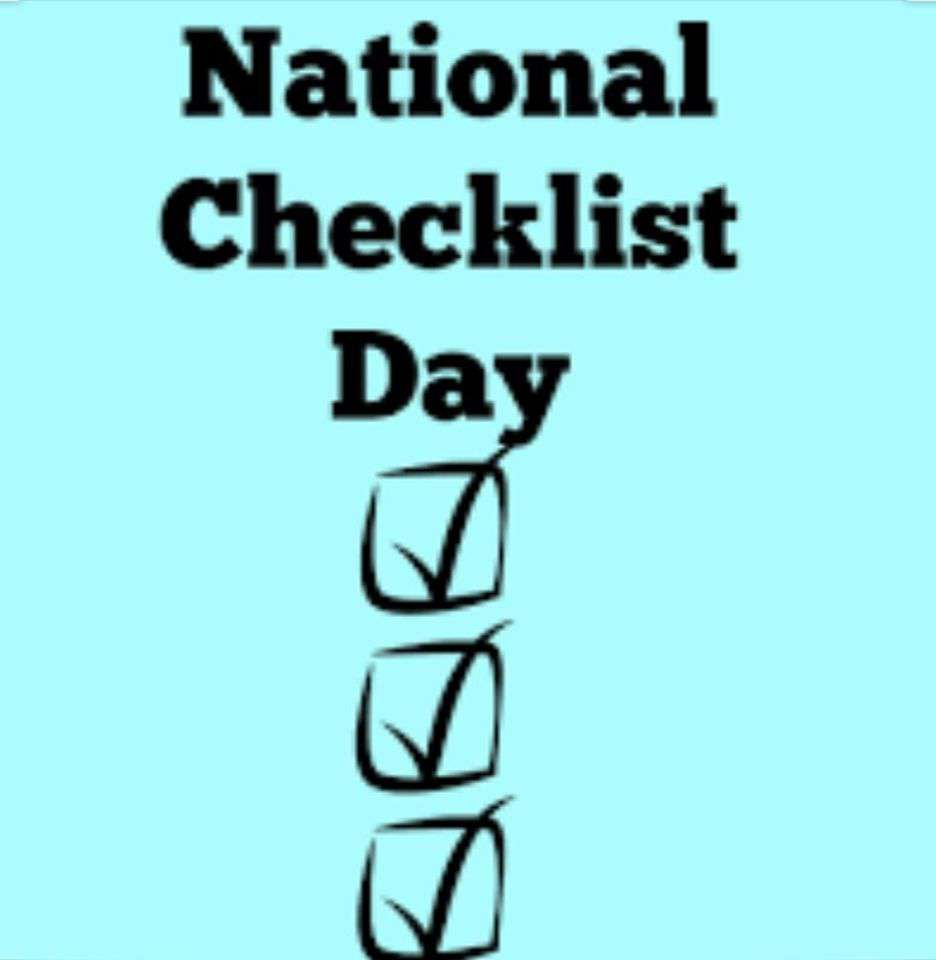 National Checklist Day Wishes For Facebook