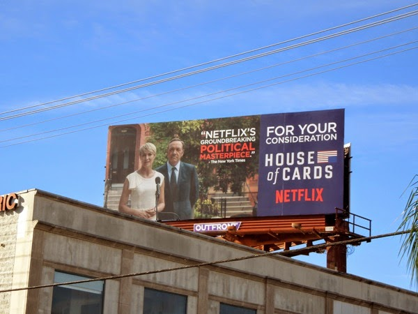 House of Cards season 2 For Your Consideration billboard