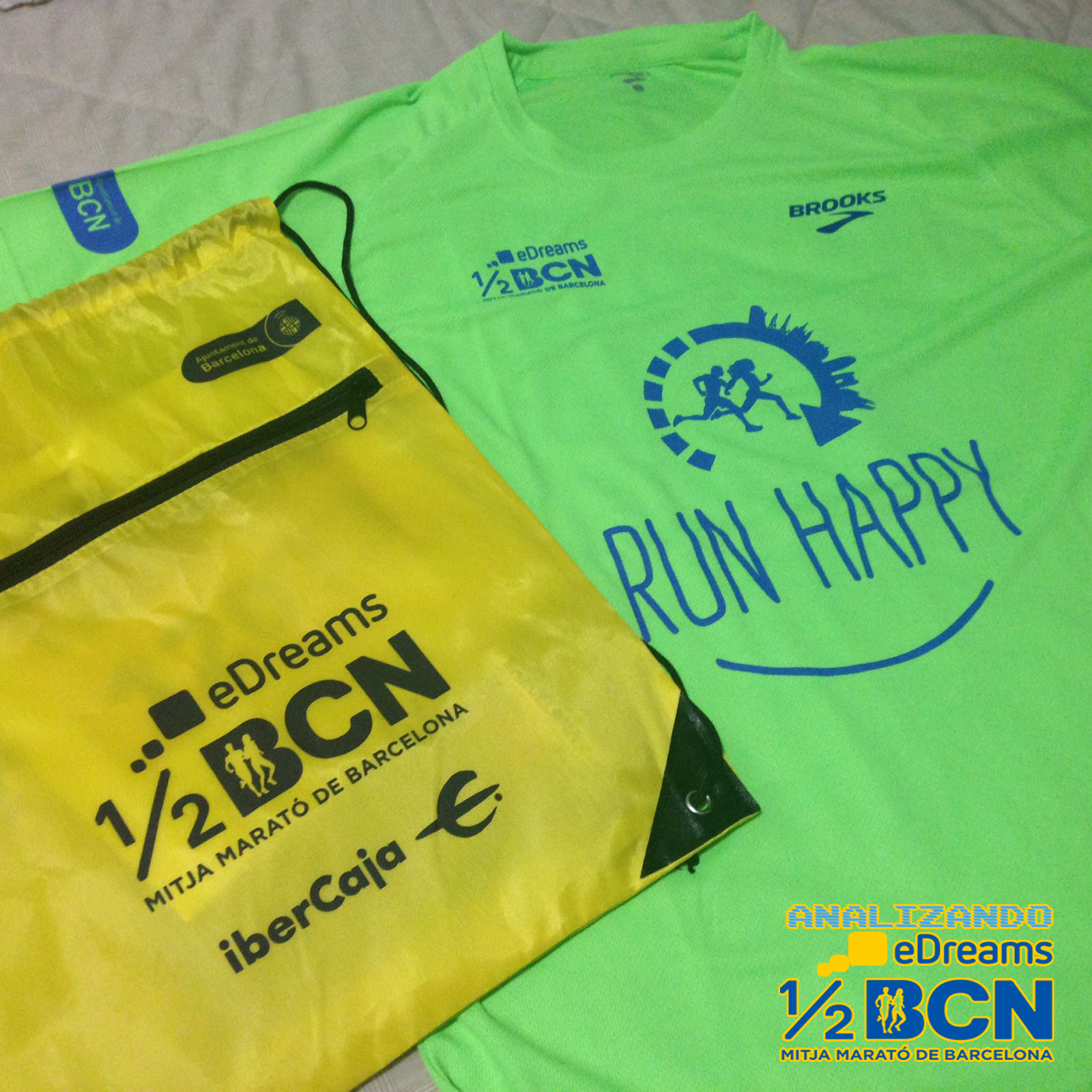 Analizando eDreams Mitja Marató Barcelona 2017 - Camiseta