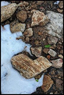 My Heart Shape rock found by Gloria Falls...God sending love again.