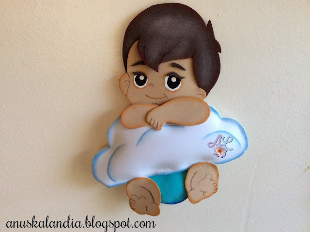 Nube-bebé-goma-eva-foamy-souvenir-babyshower- anuskalandia