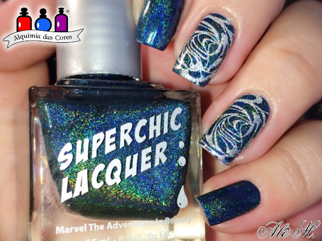 Esmalte Indie, Superchic Lacquer, Deadpool, DRK Nails, Holográfico, Alê M., BP-L061, Teal