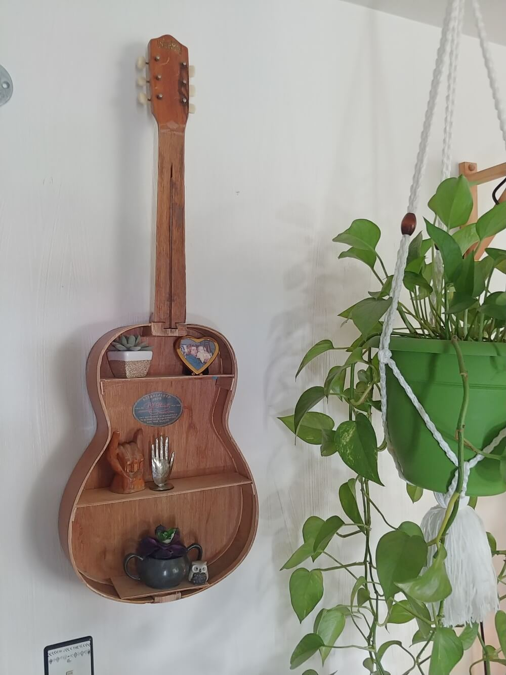 Upcycled Guitar Shelf - 7 Days of Thrift Shop Flips - Day One!