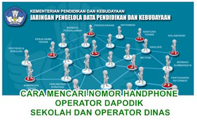 Cara Mencari Nomor HP Operator Sekolah Lain dan Operator Dinas