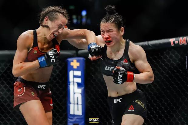 Joanna Jedrzejczyk Weili Zhang Battle