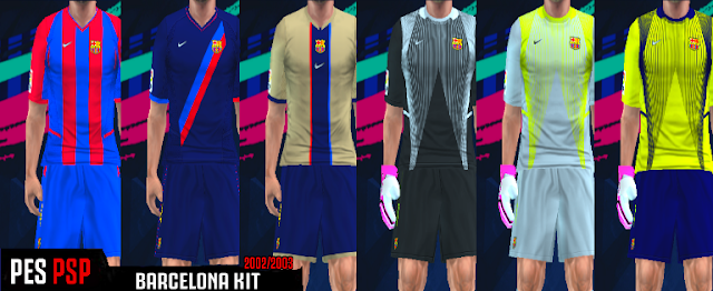the latest 6f9de 17ede FC Barcelona 2002/2003 Kits PES PSP (PPSSPP)