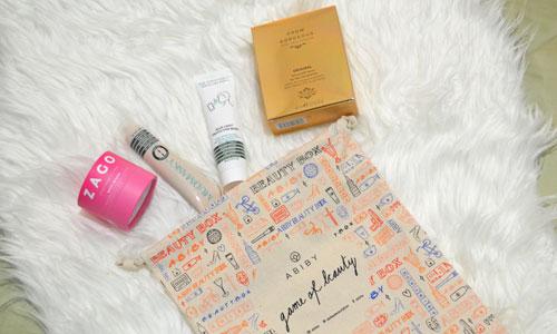 Productos cajita de belleza Abiby Noviembre 2020