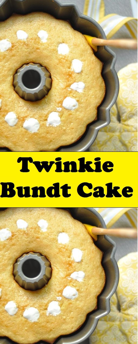 This homemade Twinkie Bundt Cake was born out of necessity. Necessity I tell you.