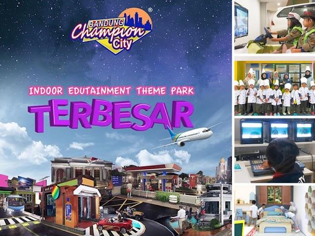 Bandung Champion City Wisata Indoor Edutaintment Theme Park Pertama dan Terbesar di Indonesia