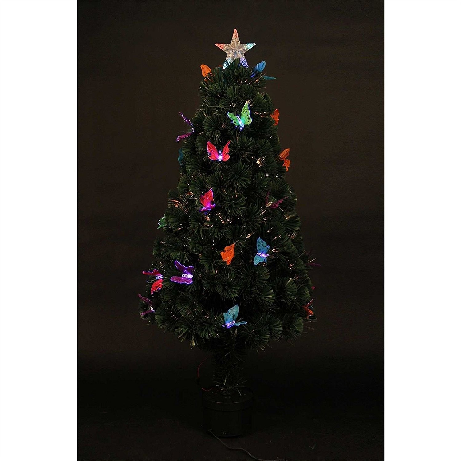 2ft White Fibre Optic Christmas Tree
