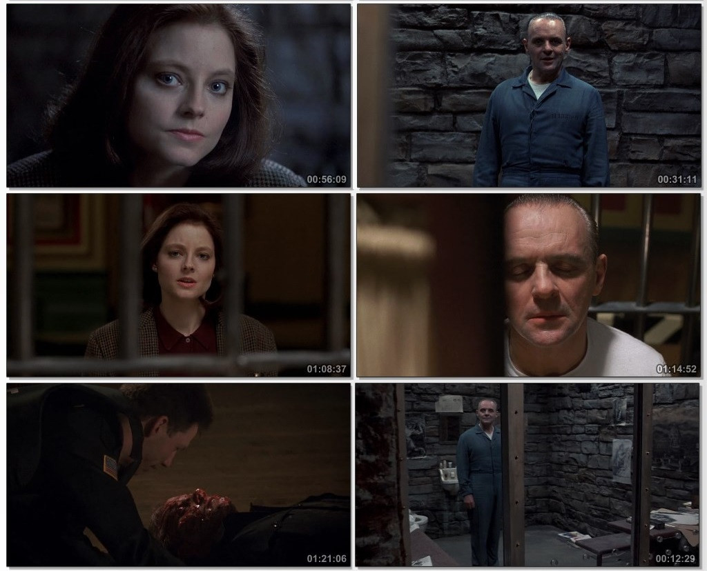 Screen Shot Of The Silence of the Lambs 1991 300MB Full Movie Hindi Dubbed Free Download 720P BRRip HEVC