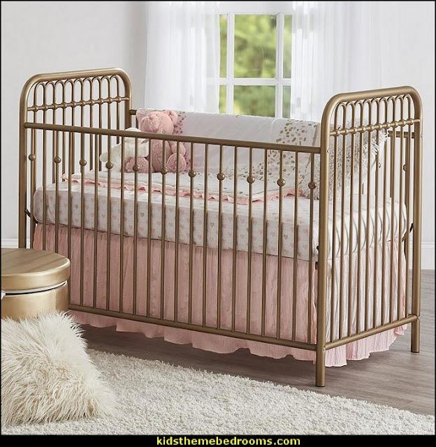 Blush pink decorating - blush pink decor - blush and gold decor - blush pink and gold bedroom decor -  blush pink gold baby girl nursery furniture - blush art prints -
