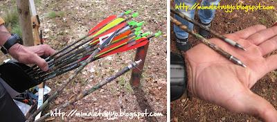 Tipos de flechas, tiro con arco en Gredos, España