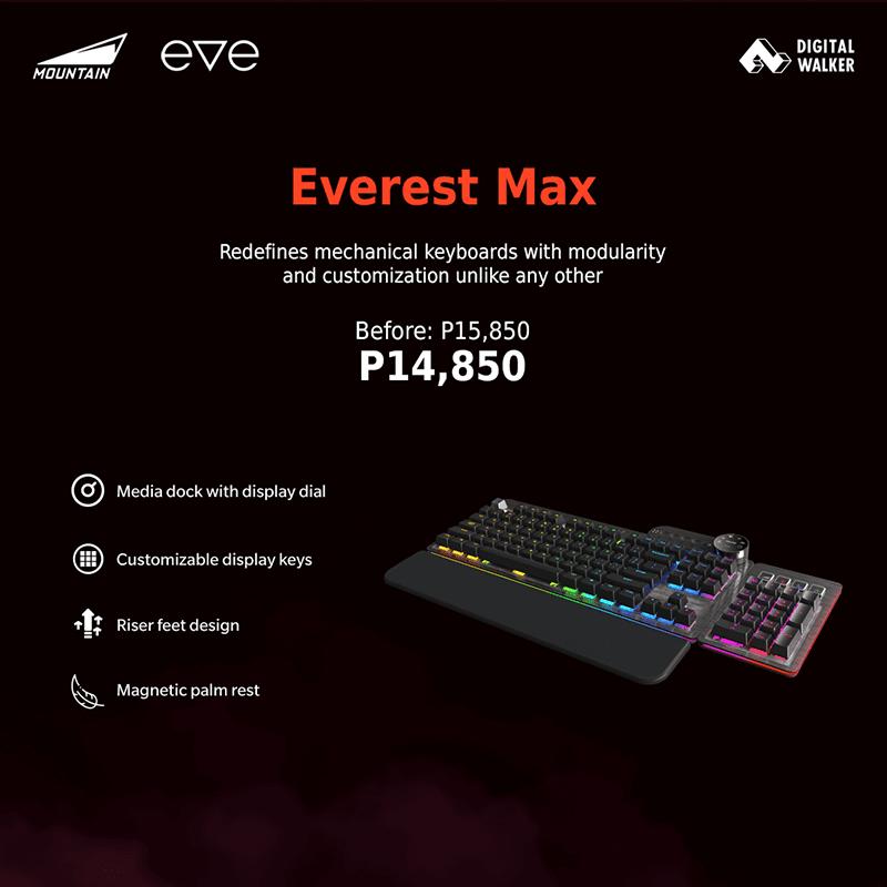 Everest Max mechanical keyboard