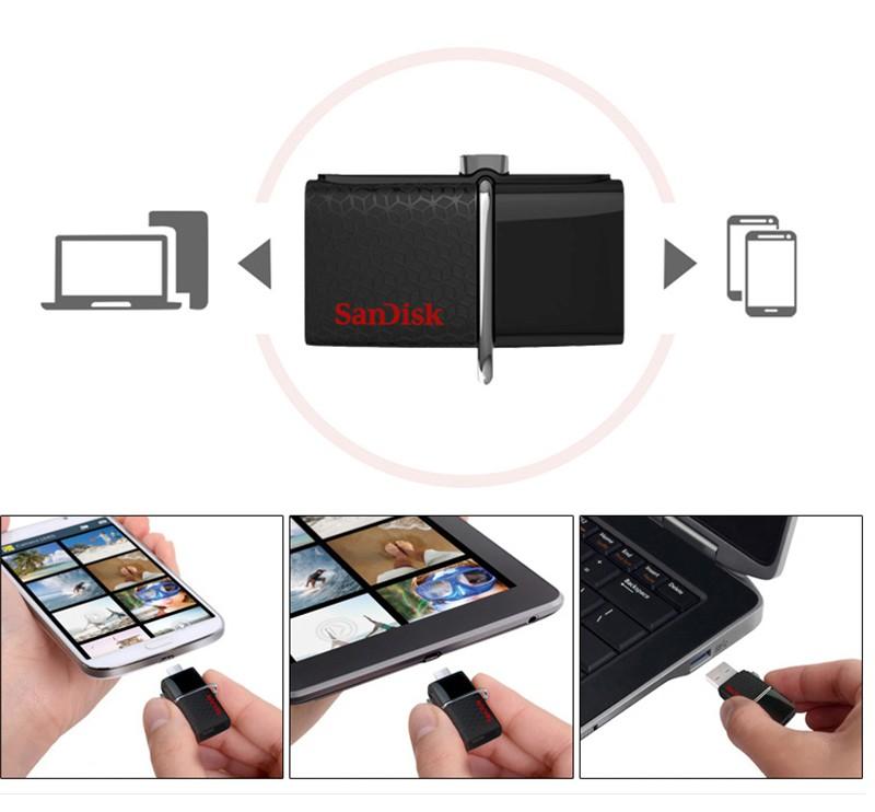 Флеш-память для смартфона и компьютера SanDisk Ultra Dual USB OTG 3.0