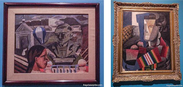 Pintores mexicanos: Homenagem a Juárez, de Rufino Tamayo, e Retrato de Martín Luis Guzmán, de Diego Rivera