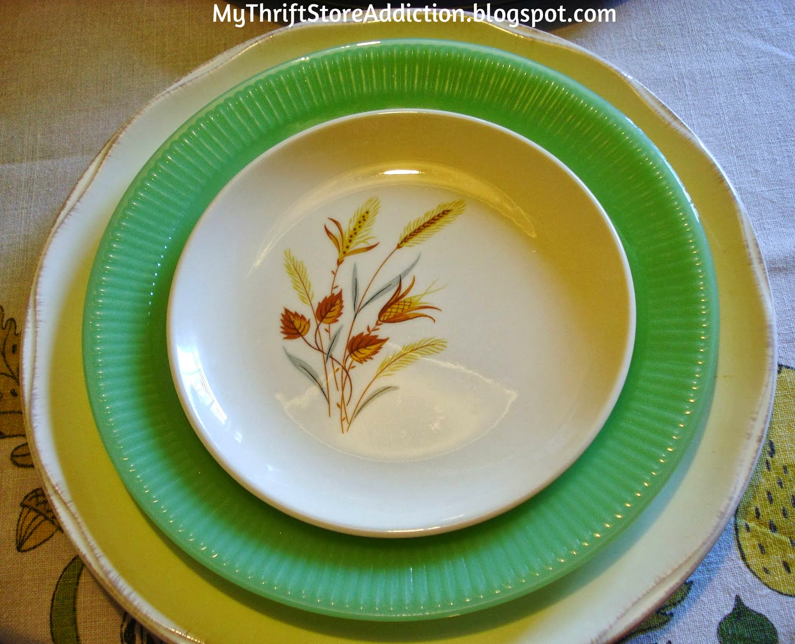 Vintage Ever Yours Autumn Harvest plates