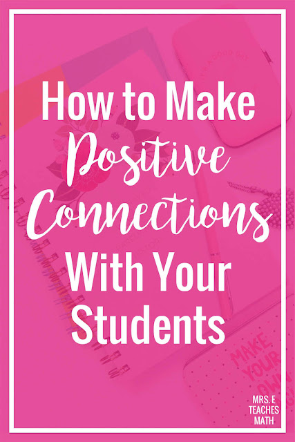 Building positive relationships with students is a very important of teaching. If you want a good relationship or a positive rapport with students, these tips will help. They may even improve your classroom management!