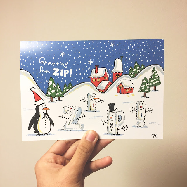 日本テレビ「ZIP!」クリスマス・カード